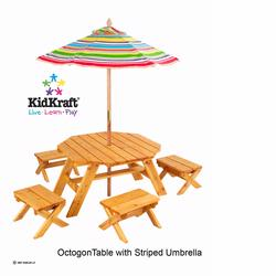 KidKraft 00042 Octagon Table with 4 Chairs and Umbrella