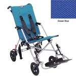 Convaid CX18 902594-903463 Cruiser Textilene 30 Degree Fixed Tilt Wheelchair Stroller - Ocean Blue