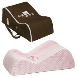 Nap Nanny CH6020KIT, Chill Minky Pink with Chocolate Travel Bag