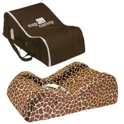 Nap Nanny CH6060KIT, Chill Flat Giraffe with Chocolate Travel Bag