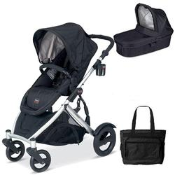 Britax U281772KIT5, B-Ready Stroller and Bassinett with Diaper Bag - Black
