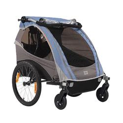 Burley 948205BKIT2, D-Lite Blue Trailer with 2-Wheel Stroller Kit
