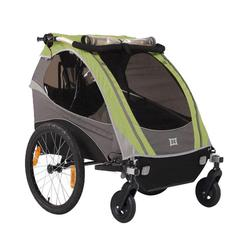 Burley 948205SKIT1, D-Lite Green Trailer with 2-Wheel Stroller Kit