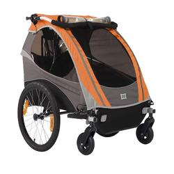 Burley 948206SKIT1, D-Lite Orange Trailer with 2-Wheel Stroller Kit