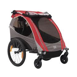 Burley 948205RKIT1, D-Lite Red Trailer with 2-Wheel Stroller Kit