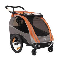 Burley 939205OKIT1, Solo Orange Trailer with 2-Wheel Stroller Kit