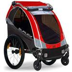 Burley 939205RKIT1, Solo Red Trailer with 2-Wheel Stroller Kit