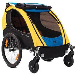 Burley 942103KIT1 Encore Trailer with 2-Wheel Stroller Kit, Blue/Yellow