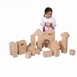 Edushape 726032 Big Wood-Like Building Blocks