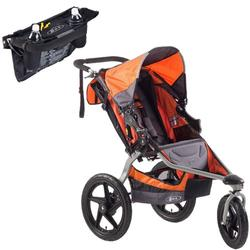BOB ST1022KIT1, Revolution SE Single Stroller in Orange with Handlebar Console