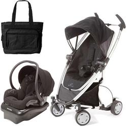 Quinny Zapp Xtra Travel system with diaper bag and car seat - Rocking Black