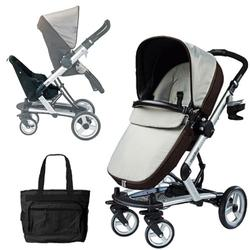 Peg Perego Skate Stroller/Pram System with Skate Jumper Seat & Diaper Bag - Java