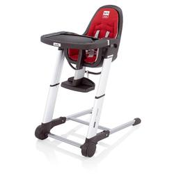 Inglesina AZ90C6RED/D,  Zuma Gray Highchair - Red