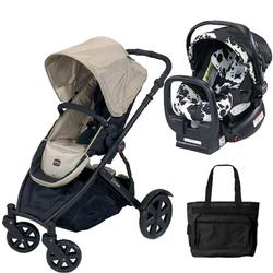 Britax U281768KIT3, B-Ready Stroller and Chaperone Infant Carrier with Diaper Bag - Twilight Champagne/Cowmooflage