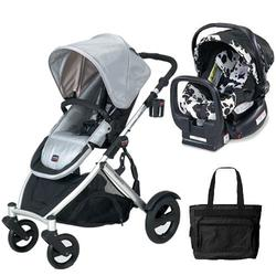 Britax U281774KIT6, B-Ready Stroller and Chaperone Infant Carrier with Diaper Bag - Silver/Cowmooflage