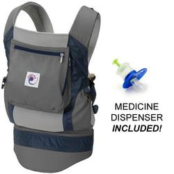 Ergo Baby BCP03405, Performance Carrier With a Medicine Dispenser - Grey