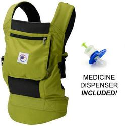 Ergo Baby BCP32300MED, Performance Carrier With a Medicine Dispenser - Spring Green