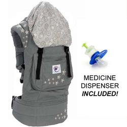 Ergo Baby BC2EP Galaxy Grey Baby Carrier with Galaxy Lining And Medicine Dispenser