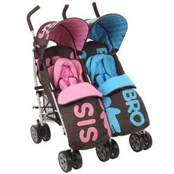 Cosatto 35481 You2 Twin Stroller - Pink/Blue