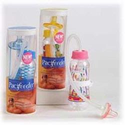 Pacifeeder Hands Free Baby Bottle, Pink Stars Design