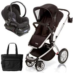 Maxi-Cosi CV162APUKT2, Foray LX Stroller Travel System in Total Black with Diaper Bag