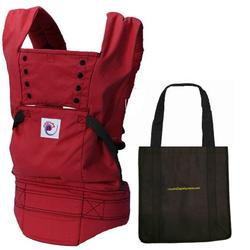 Ergo Baby BCSP610, Red Sport Carrier With a Tote Carry Bag in Black