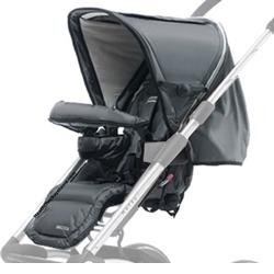 Mutsy 4Rider- Seat Only in  Active Black