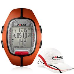 Polar 99043486, RS-300X ORA Heart Rate Monitor - Orange with Polar Race Hat
