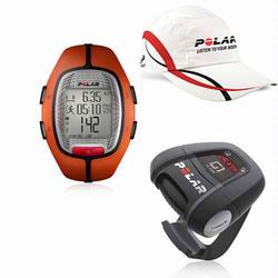 Polar 99043498, RS-300X G1 ORA Heart Rate Monitor With G1 GPS For Cross Sport Training - Orange with Polar Race Hat