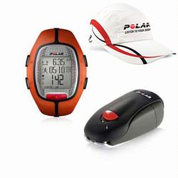Polar 99043490, RS-300X SD ORA Heart Rate Monitor With S1 Foot Pod For Running Enthusiasts - Orange with Polar Race Hat