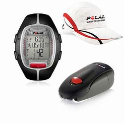 Polar 99043491, RS-300X SD BLK Heart Rate Monitor With S1 Foot Pod For Running Enthusiasts - Black with Polar Race Hat