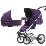 Mutsy 4Rider Light Newborn Stroller System - Team Purple