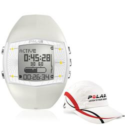 Polar 99043499, FA20 WHI Activity Computer Watch, Female White with Polar Race Hat