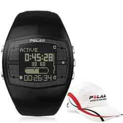 Polar 99043500, FA20M BLK Men's Activity Computer Watch - Black with Polar Race Hat