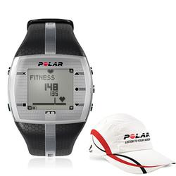 Polar 99043508, FT7M Heart Rate Monitor Black/Silver with Polar Race Hat