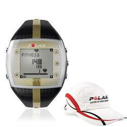Polar 99043509, FT7F Heart Rate Monitor - Black/Gold with Polar Race Hat