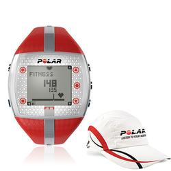 Polar 99043515, FT7F Heart Rate Monitor - Red/Silver with Polar Race Hat