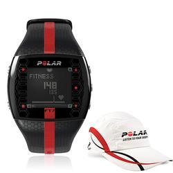 Polar 99043516, FT7M Heart Rate Monitor - Black/Red with Polar Race Hat