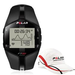 Polar 99043510, FT80 WD Heart Rate Monitor, Black with Polar Race Hat