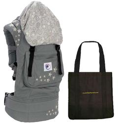 Ergo Baby BC2EP - Galaxy Grey Baby Carrier with Galaxy Lining and a Tote Carry Bag in Black