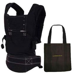 Ergo Baby BC6SPH - Black Sport carrier with black lining and a Tote Carry Bag in Black