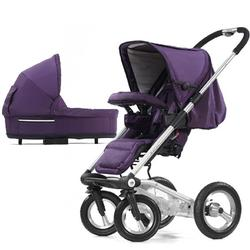 Mutsy 4Rider Single Spoke Newborn Stroller System - Team Purple