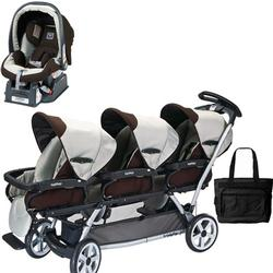 Peg Perego TRIPLEJKIT1 Triplette SW Travel System with 1 Seat and a Diaper Bag  - Java