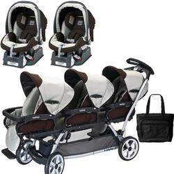 Peg Perego TRIPLEJKIT2 Triplette SW Travel System with 2 Seats and a Diaper Bag  - Java