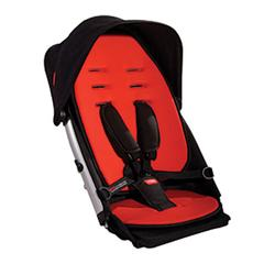 Phil and Teds VERVE_DK Verve Stroller Doubles Kit - Red Black