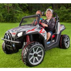 Peg Perego IGOD0514 Polaris Ranger RZR Ride On Toy (Silver)