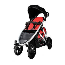 Phil & Teds VERVEREDKIT Verve Stroller with Doubles Kit in Red/Black