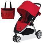 Britax B-Agile with matching Diaper Bag in Red