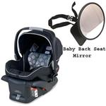 Britax E9LE53CKIT1 - B-Safe Infant Car Seat in Black w/ Back Seat Mirror