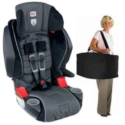 Britax E9LE31AKIT1 - Frontier 85 SICT Combination Harness-2-Booster in Onyx with a car seat Travel Bag